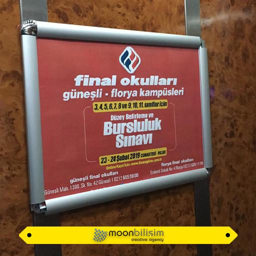 Asansör İndoor Reklamları