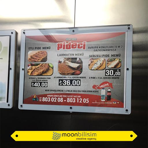 Asansör İçi Reklamı