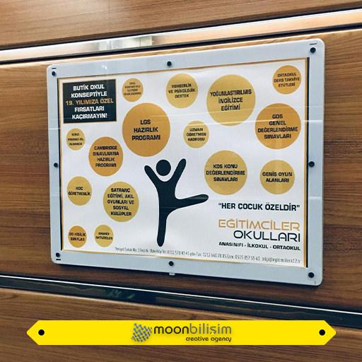 İndoor Asansör Reklamları