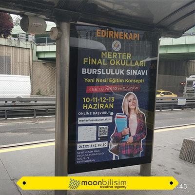 Merter Final Metrobüs Reklam Çalışması